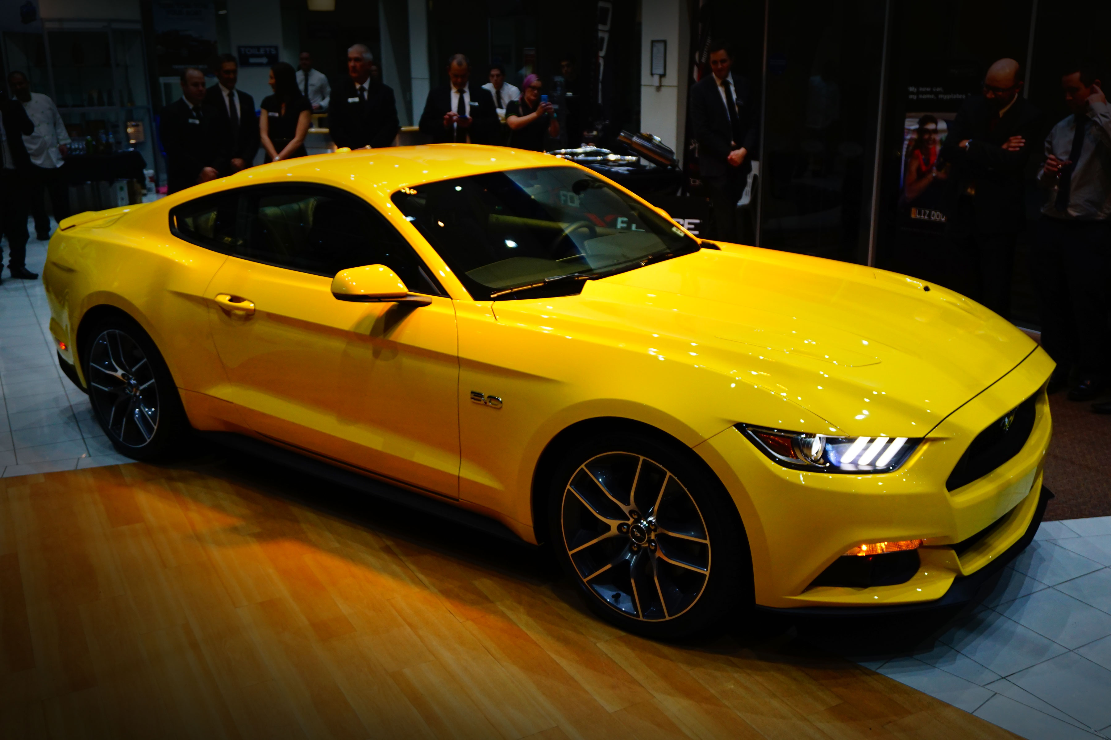 2015 mustang launch at sinclair ford with john bowe