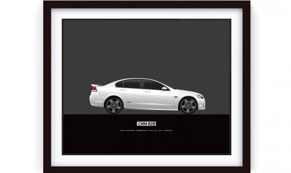 White Holden SS Z-Series Illustrated