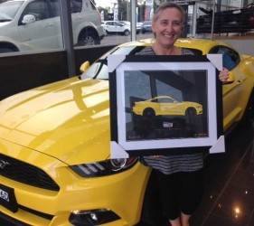 Triple Yellow Mustang Illustration from Sinclair Ford by 1-of-1.com.au