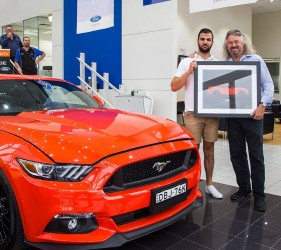 Competition Orange Mustang Illustration building dealership loyalty