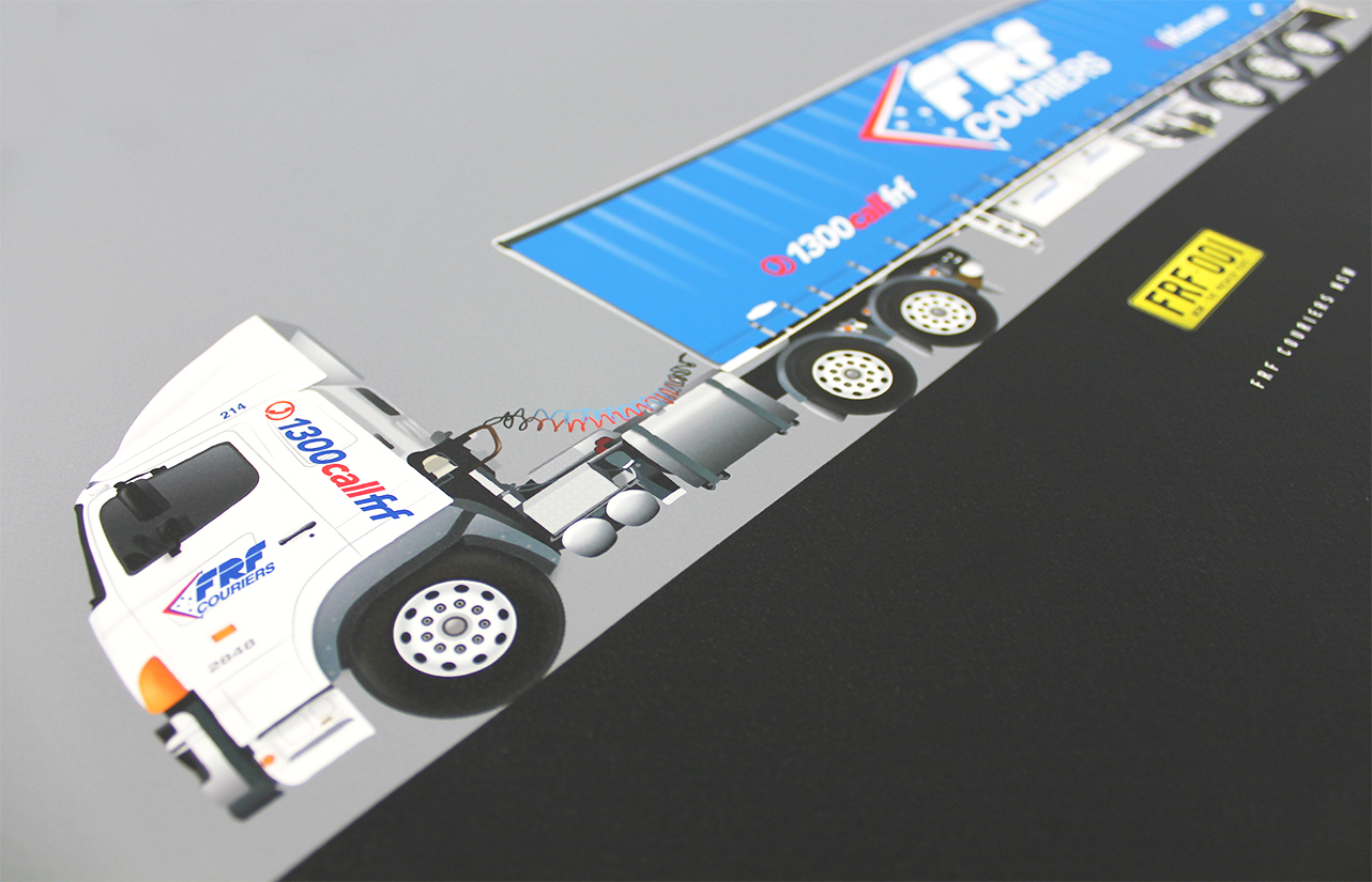 Corporate Gift, FRF Couriers Truck illustration