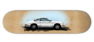 Porsche 911 Sketch on a Skateboard Deck