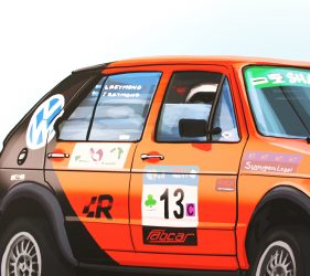 VW Golf Rally Car Illustration