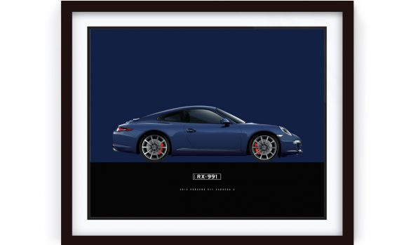Framed CarreraS Porsche Illustration