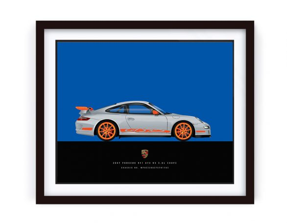 2007 GT3 RS Illustration made by 1-of-1.com.au