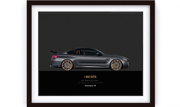 BMW M4 GTS Illustration framed