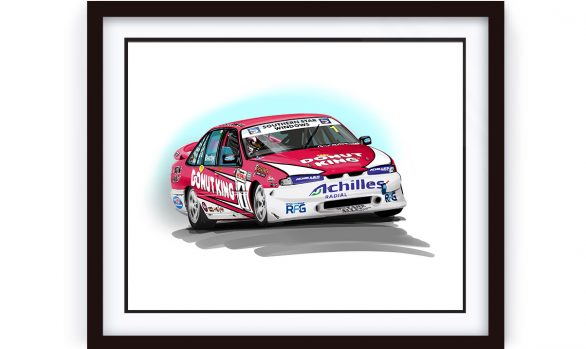 Holden Race Car Illustration