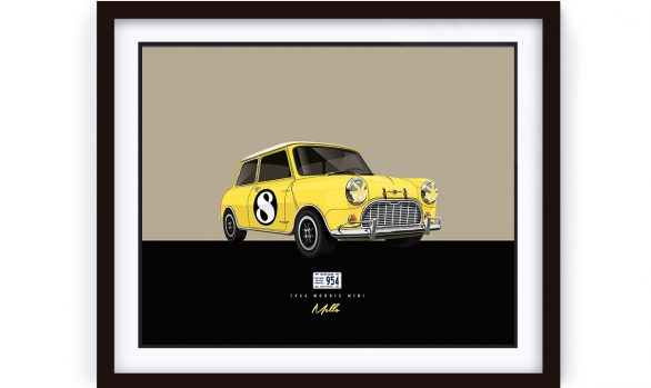 Framed Morris Mini Artwork by 1-of-1.com.au