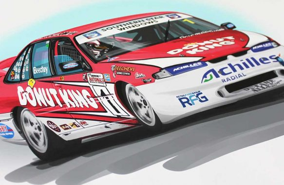 Holden Race Car Illustration by 1-of-1.com.au