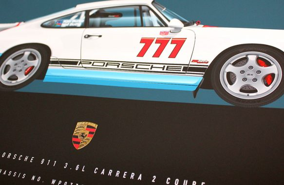 1992 Porsche Carrera 2 RS Illustration in Magnus Walker Livery