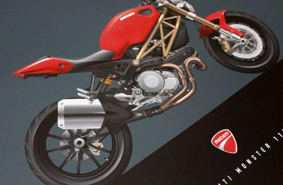 Ducati Monster 1100 EVO Custom Illustration