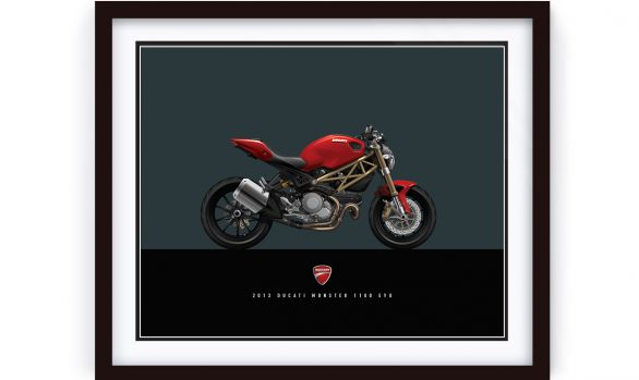 Ducati Monster 1100 EVO Custom Illustration