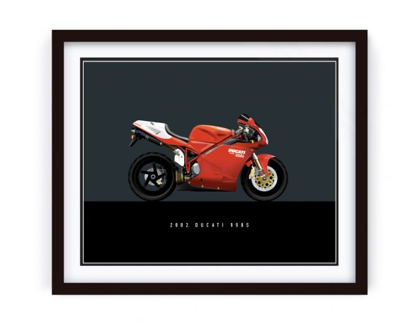 2002 Ducati 998s Illustration Framed