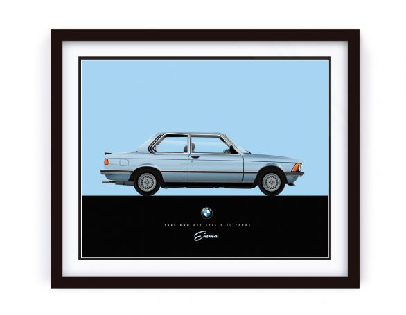 1980 BMW e21 Illustration by 1-of-1.com.au