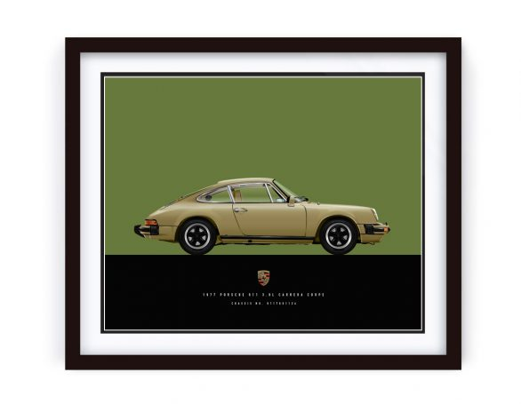 1977 Custom Made Porsche Carrera Illustration