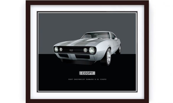 Chev Camero SS Illustration by 1of1 Automotive Artworks