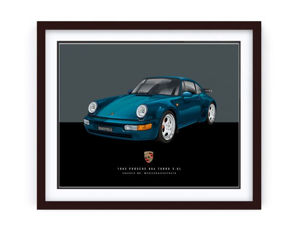 Custom Framed Porsche 964 Turbo