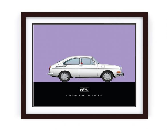 VW Type3 Fastback Artwork by 1-of-1 Automotive Artworks