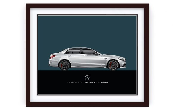 Mercedes-Benz C63 AMGs illustrated by 1of1