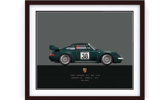 Porsche 993 Carrera 4S Illustration by 1of1 Automotive Artworks