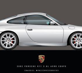 Porsche 996 Illustration by 1of1 Automotive Artworks