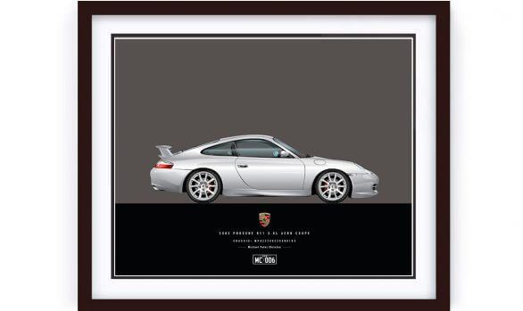 Porsche 996 Illustration by 1of1 Automotive Artworks