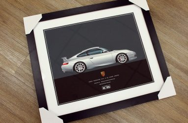 Porsche 996 GT2 Illustration by 1of1 Automotive Artworks