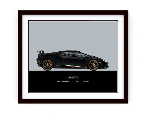 Lamborghini Huacan Performante Illustration framed by 1of1 Automotive Artworks