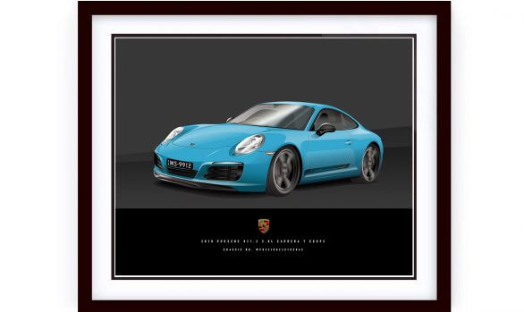 2018 Porsche Carrera T Framed