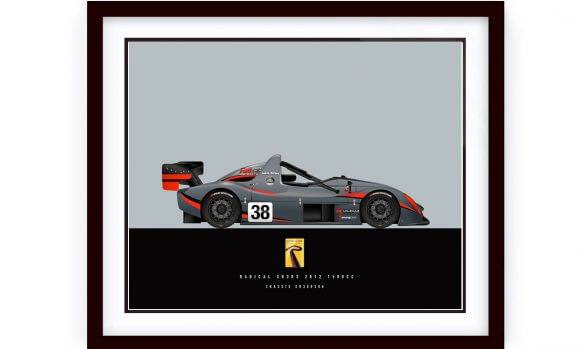 Custom Made 2012 Radical R3RS Race Car Illustration