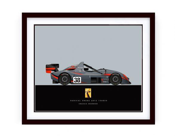 Custom Made 2012 Radical R3RS Race Car Illustration