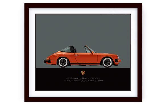Porsche 911 Targa Continential Orange
